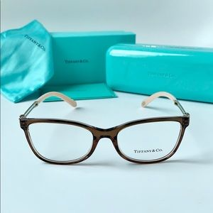 Tiffany Eyeglasses TF2151 8255 Brown Grey Pink